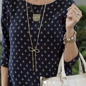 Cynthia Rowley XS anchor blouse